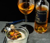 Sauternes served with grilled peach