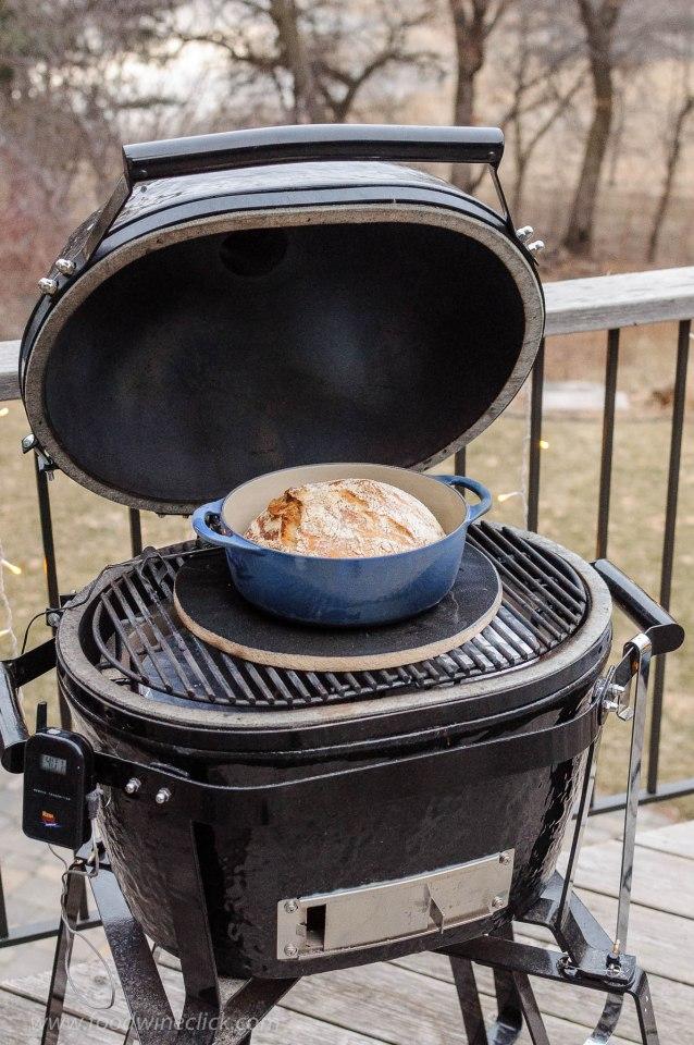 baking bread on Primo ceramic grill