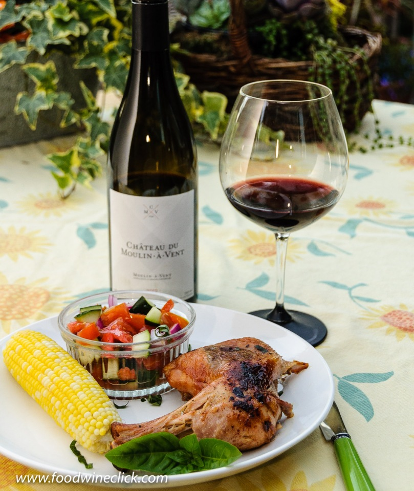 Château du Moulin-à-Vent Cru Beaujolais wine paired with grill roast chicken