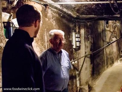Raymond Boillot of domaine Albert Boillot in the cellar