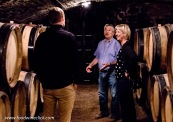 Raymond Boillot in the cellar at domaine Albert Boillot