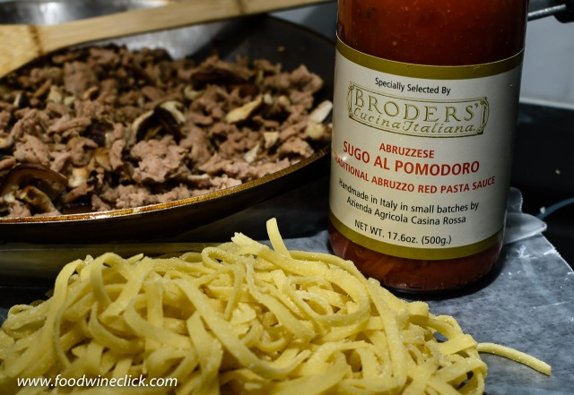 Broder's sauce and pasta