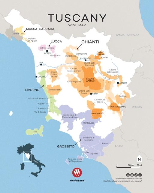 Chianti map courtesy of www.winefolly.com