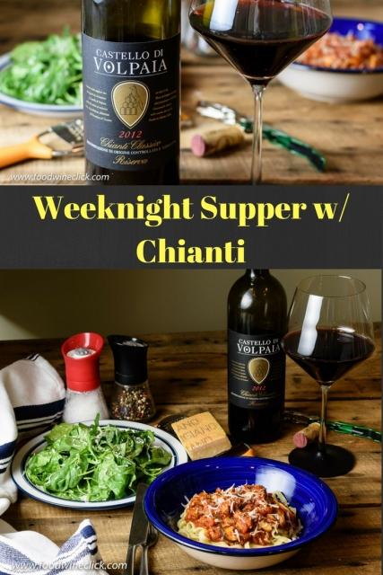 Weeknight supper w/ Chianti at www.foodwineclick.com