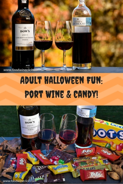 Port Wine and Pilfered Halloween Candy at www.foodwineclick.com