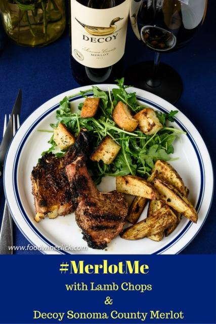 #MerlotMe means Decoy Merlot and lamb chops at www.foodwineclick.com