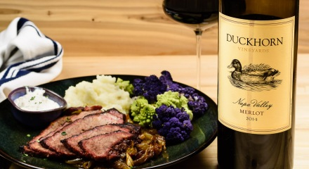 Grill braised brisket with Duckhorn Napa Valley Merlot