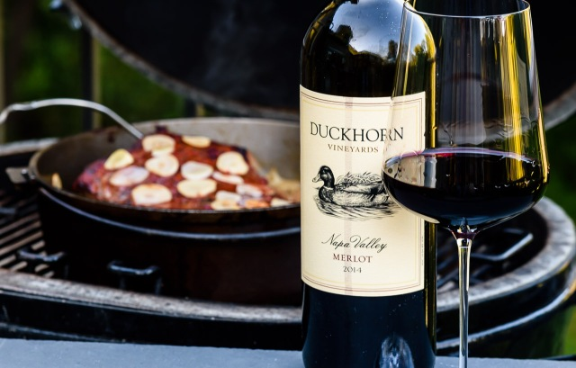 Duckhorn Merlot at the grill