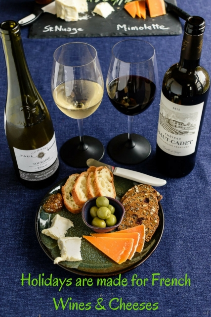 Holidays are made for French wines and cheeses! Visit www.foodwineclick.com for details