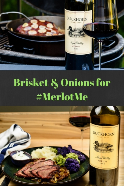 Grill Braised Brisket with Duckhorn Merlot for #MerlotMe at www.foodwineclick.com