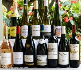 A wide selection of French wines