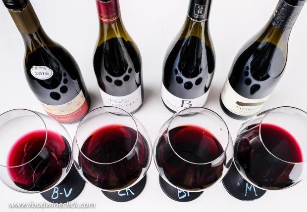 A variety of Cru Beaujolais wines