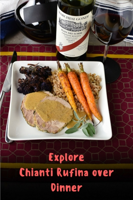 Explore Chianti Rufina over a dinner of milk braised pork at www.foodwineclick.com