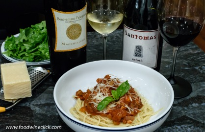 Both wines were food-friendly and paired nicely with our homemade spaghetti sauce