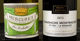 White Burgundy wines from Mercurey and Chassagne-Montrachet