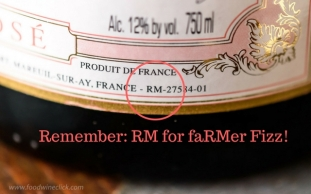 Somewhere on the label, you'll find it. RM=Grower Champagne!