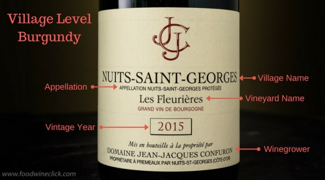 Explanation of a Burgundy wine label
