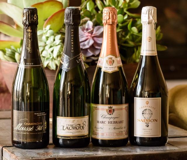 Bottles of grower Champagne