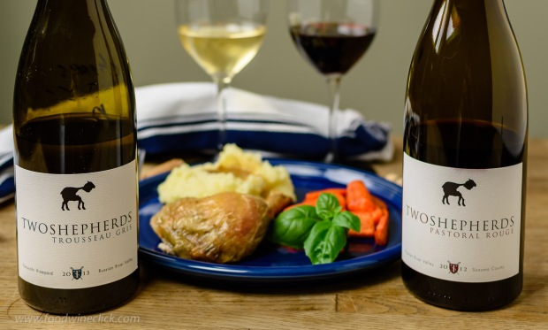 Two Shepherds with Roast Chicken at www.foodwineclick.com