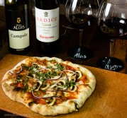Aglianico was a nice partner for pizza