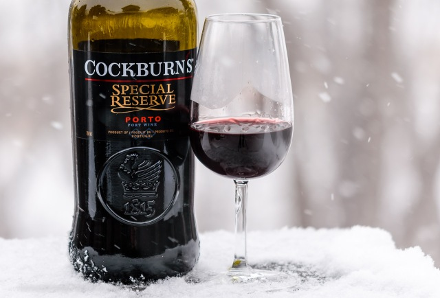 Cockburn's Special Reserve Port in the snow