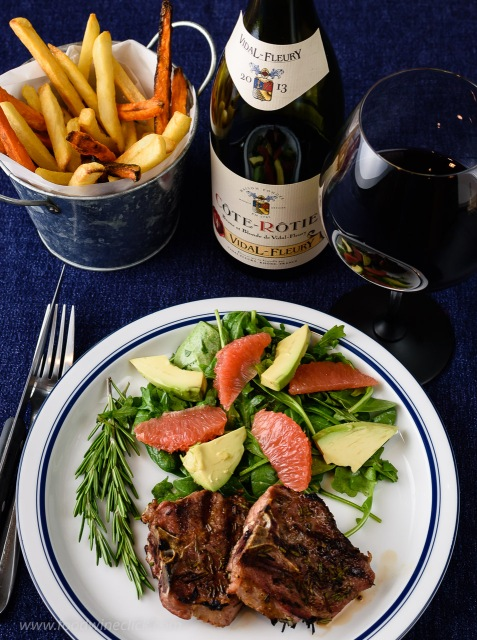 Vidal-Fleury Côte-Rôtie with grilled lamb chops