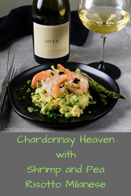 iOTA Cellars Chardonnay pairs beautifully with shrimp and pea risotto milanese at https://wp.me/p2lH8G-3Lu