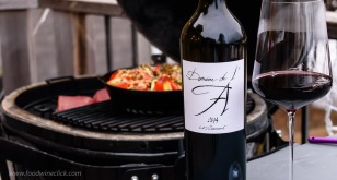 Nice to enjoy a glass of wine at the grill. Even with jacket and gloves on, it reminds us of summer days ahead.