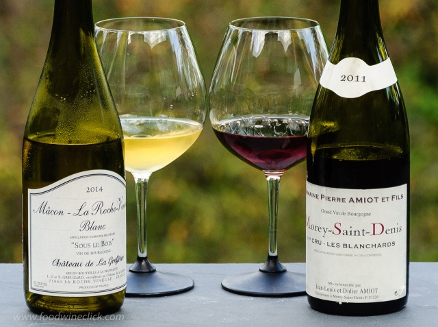 White and red burgundy wines