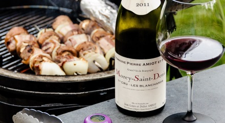 Domaine Pierre Amiot et Fils Morey-Saint-Denis at the grill
