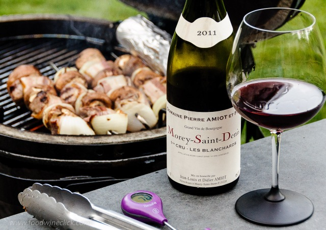 Domaine Pierre Amiot et Fils Morey-Saint-Denis red burgundy wine at the grill