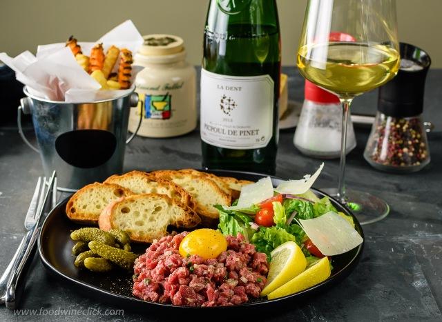 Picpoul de Pinet and Steak Tartare