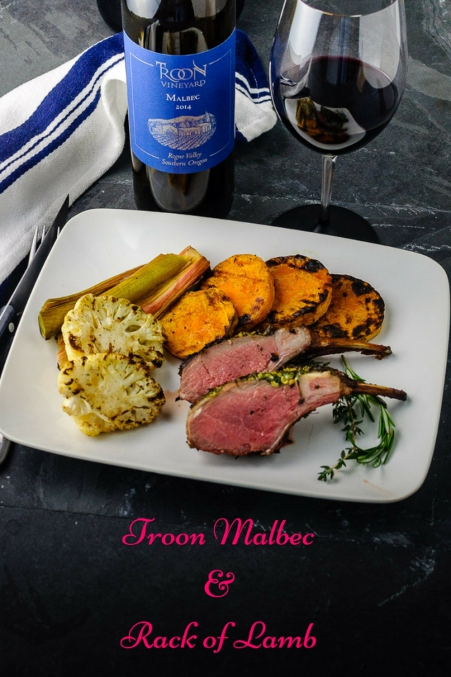Troon Vineyard Malbec & Rack of Lamb at www.foodwineclick.com