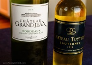 Bordeaux Blanc was first, and Sauternes brought up the caboose. Both wines were <$20
