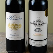 It's worthwhile to taste a classified growth Left Bank Bordeaux, then see how the affordable wine compares. 3rd Grand Cru Classe Chateau Kirwan $70, and Maison Blanche Cru Bourgeois $20