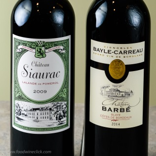 Same thing on the Right Bank, taste a higher end wine, then taste the affordable Bordeaux. Chateau Siaurac mid $20's, Chateau Barbe <$20.