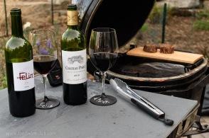 Côtes de Bordeaux at grillside