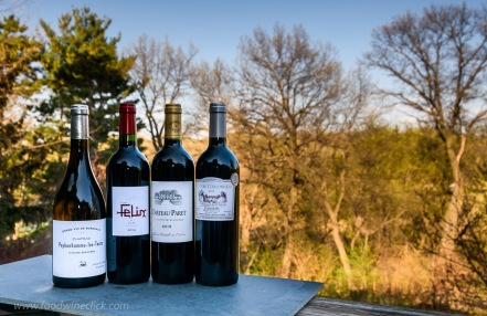 Our French Winophiles group sampled a variety of wines. I had both blanc and rouge wines, traditional and modern.