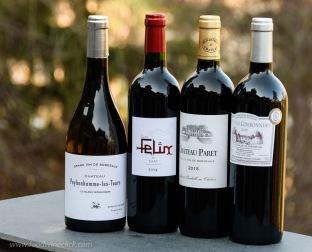 a selection of Côtes-de-Bordeaux red wines