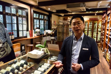 Store manager Jack Xu was happy to guide me around the shop, including tasting at their Enomatic