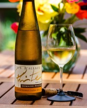 Lychee and melon aromas jump out of the glass to meet you, it's Gewurztraminer