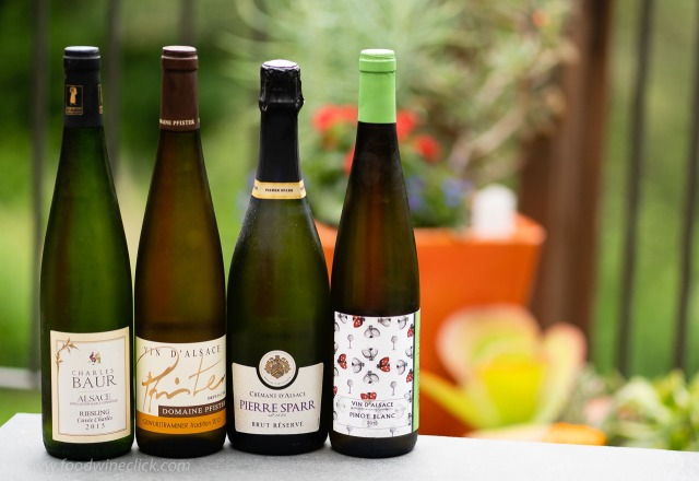 A variety of Alsace wines