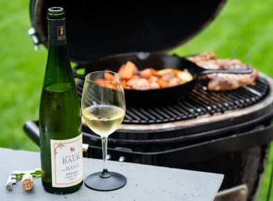 Roasting on the grill at a moderate temperature gives time for a sip of wine