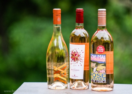 Rosé samples from France and Italy