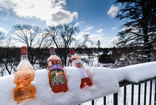 Rosé season in Minnesota accompanied by 15 inches of snow!