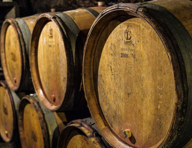 Barrels at Domaine Chevrot & Fils