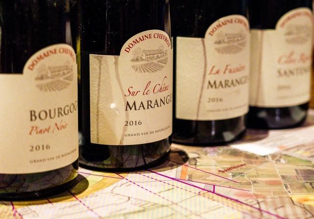 Lineup of Domaine Chevrot & Fils Bourgogne wines