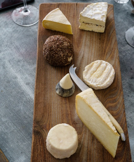 cheese board at The Cook's Atelier in Beaune