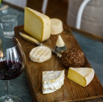 Our cheese board was all French, some very local.