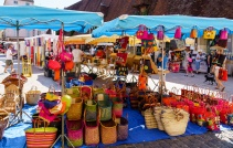 Did you forget your bag? No problem, baskets for sale at the market, too